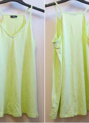 Актуальная удобная маечка блуза f&f  натуральная размер 12