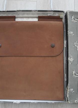 Винтажная сумка портфель nazareno gabrielli ( 100% кожа , 38*34 см ) italy , новое