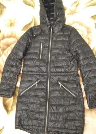 Демисезонная женская куртка –парка с капюшоном  36 разм/42/s 158-164см