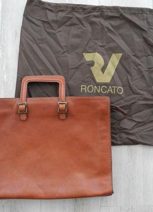 Сумка портфель roncato ( 100% кожа , 40*30 см ) italy , новое