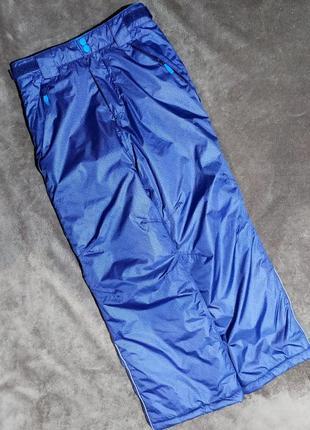 Штаны лыжные теплые 146-152 на 10-12лет  ткань расцветки под джинс