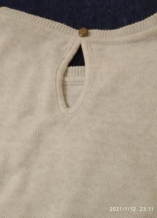 Нежный свитер в розах2 фото