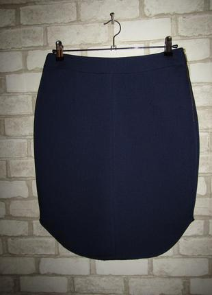 Темно-синяя юбка р-р 38-12 сост новой esprit