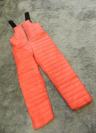 Тёплые лыжные штаны комбинезон стёганая плащёвка на утеплителе с карманами