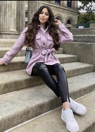 Тёплая рубашка пиджак zara в двух цветах