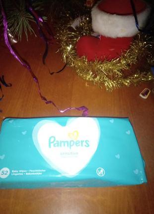 Влажные салфетки памперс детские pampers sensitive 52 шт.