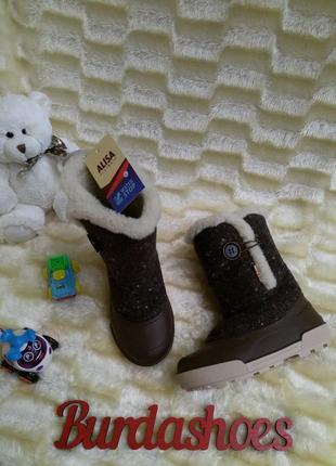 Детские зимние сноубутсы alisa line