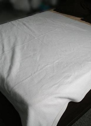 Покрывало большое плотное мягкое 170 на 207 см хлопок белое