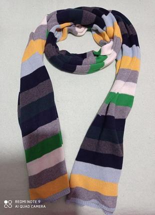Супер большой мягкий разноцветный трикотажный шарф палантин gap