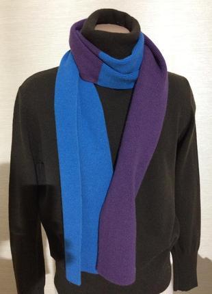 Длинный шерстяной шарф  190 х 23 см