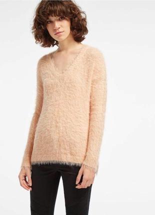 Стильный пушистый свитер травка next