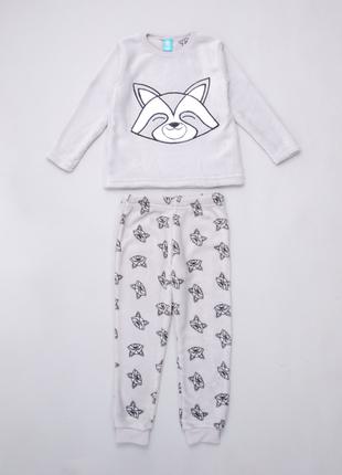"""Пижама тёплая для мальчика с принтом """"енот"""". pepco. польша."""