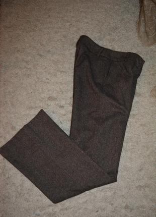 Теплые брюки палаццо, шерсть, шелк, твид, sisters, премиум качество