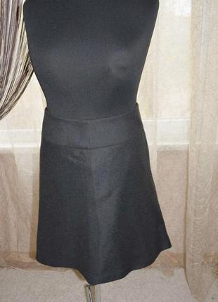 Натуральная теплая юбка, шерсть, вискоза, трапеция, дресс код, офис