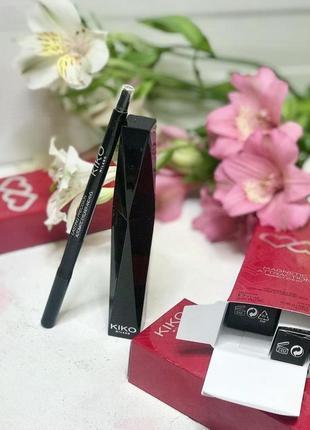 Тушь для ресниц kiko extra sculpt + карандаш для глаз kiko