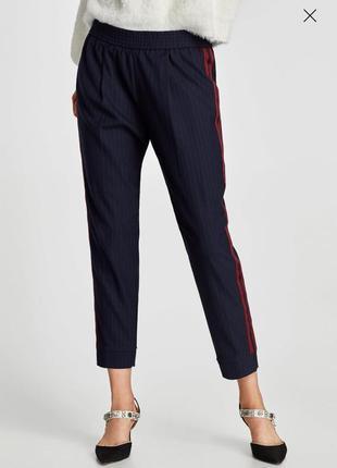 Трендовые брюки джоггери с лампасами известного испанского бренда zara.