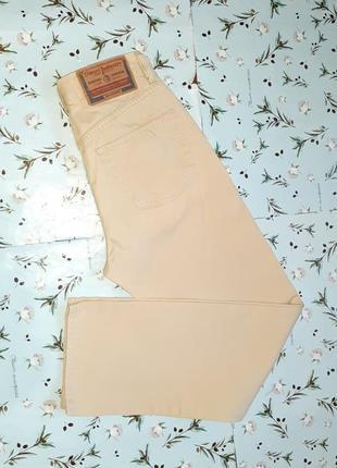🎁1+1=3 фирменные бежевые мужские зауженные джинсы diesel оригинал, размер 42 - 44