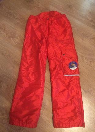 Лыжные штаны с высокой спинкой. водоооталкивающие