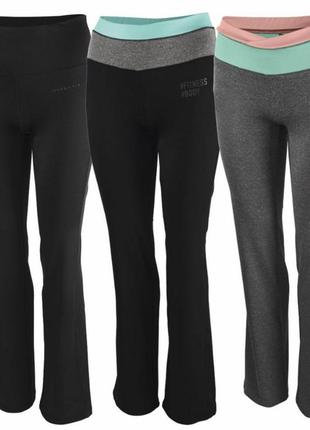Эластичные штаны crivit для занятий фитнесом, йогой