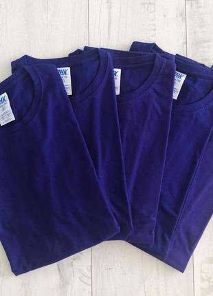Фиолетовая базовая футболка 100% хлопок размеры2 фото