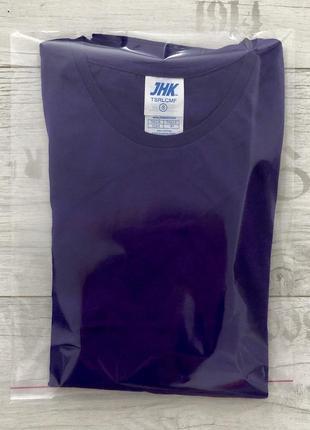 Фиолетовая базовая футболка 100% хлопок размеры3 фото