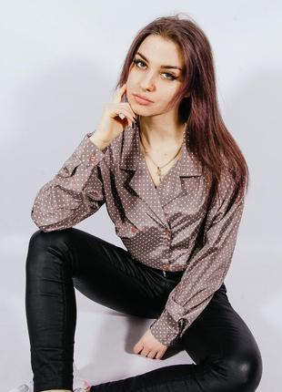 Женская рубашка в пижамном стиле
