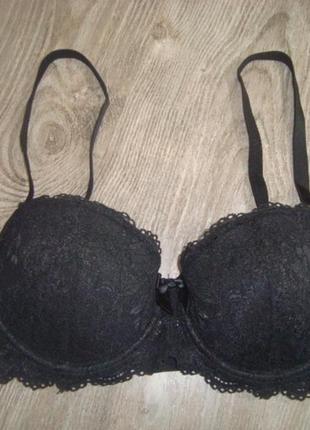 Черный кружевной-75d