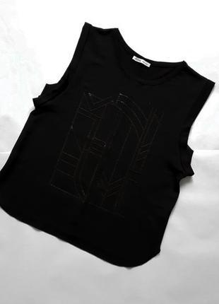 Блузка футболка с камушками   zara