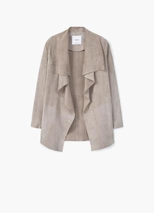 Замшевый пиджак waterfal от mango xs