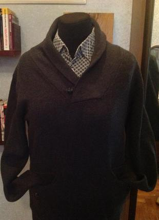 Натуральный, плотный пуловер бренда jack & jones, р. 52-54