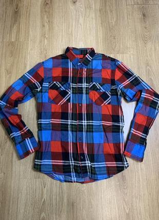 Рубашка мужская xs slim fit xs клетка