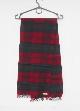 Классический  шарф  шерсть кашемир в клетку2 фото