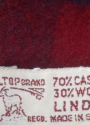 Классический  шарф  шерсть кашемир в клетку3 фото