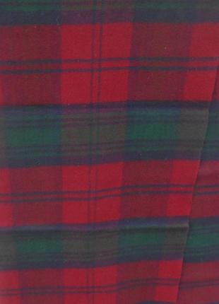 Классический  шарф  шерсть кашемир в клетку4 фото