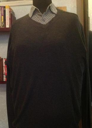 Натуральный пуловер бренда royal class, р. 60-62