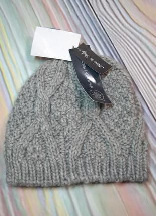 Вязаная шапочка c&a. италия.