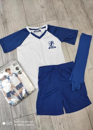 Футбольная форма комплект футболка шорты гетры crane 110/116, 122/128, 146/152