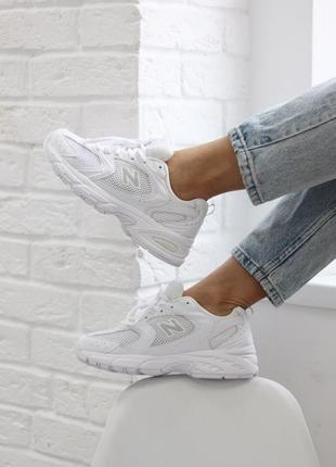 Женские шикарные кроссовки new balance 530 white / белоснежные