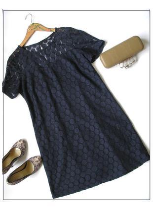 Кружевное платье цвета navy, достака бесплатно