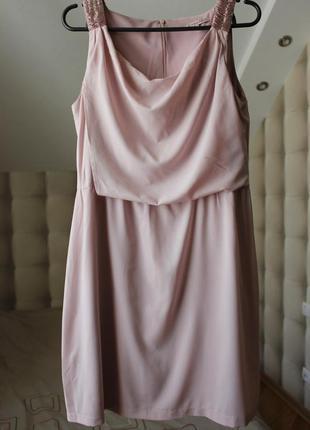 Пудровое платье футляр!