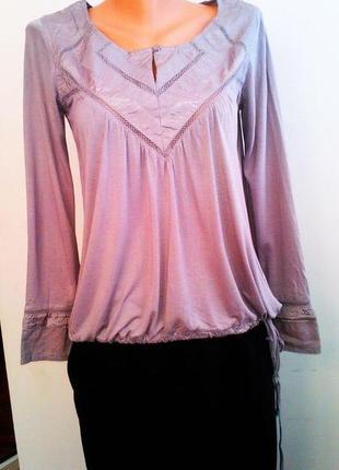 Элегантная серая блуза блузка с длинным рукавом next