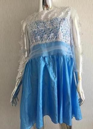 Платье атлас кружево сетка дефект