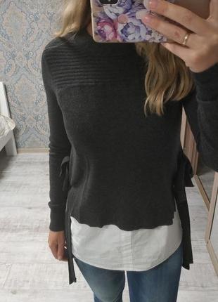 Красивый двойной свитерок рубашка-свитер