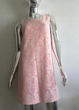 Платье в полоску кружево на подкладке h&m