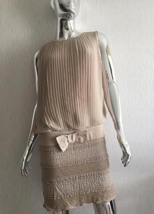 Платье плиссе кружево rinascimento