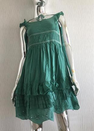 Платье сарафан с рюшами