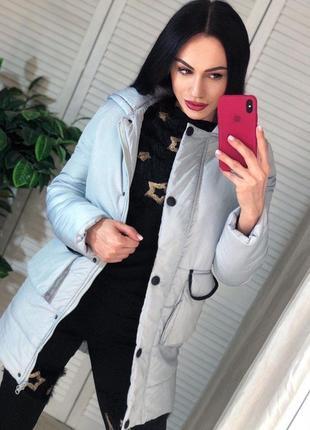 Зимняя куртка новая теплая размер с