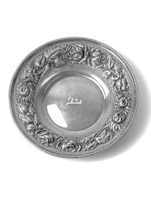 Шикарная серебряная вазочка.сша, 1950 год.