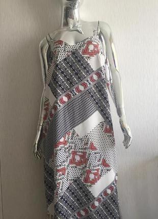 Сарафан платье в пол сбоку разрез next