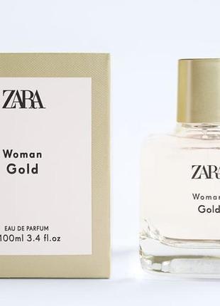 Zara woman gold edp 100 ml духи, парфуми